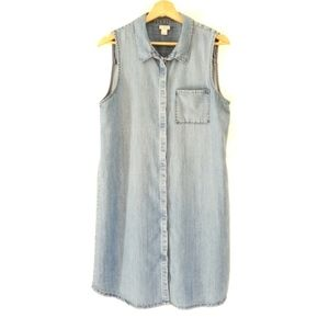 J.CREW Sleeveless Denim Dress